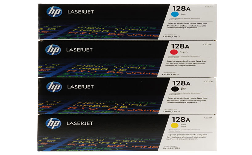 HP CE322A 128A Yellow LaserJet Toner Cartridge
