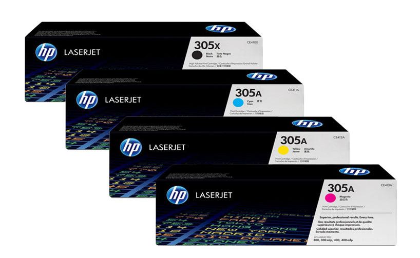 HP 305A Red LaserJet Toner Cartridge
