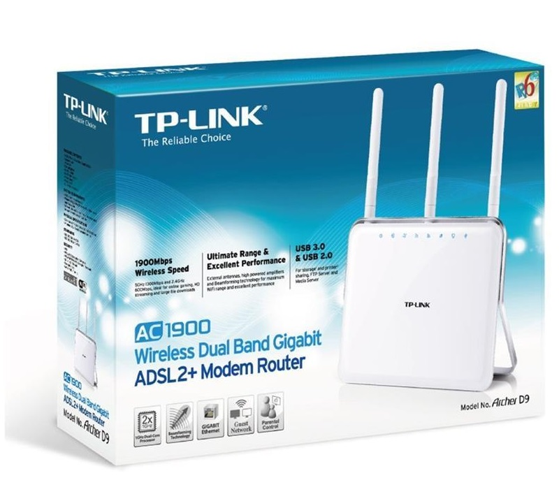 TP-LINK Archer D9 AC1900 Wireless Dual Band Gigabit