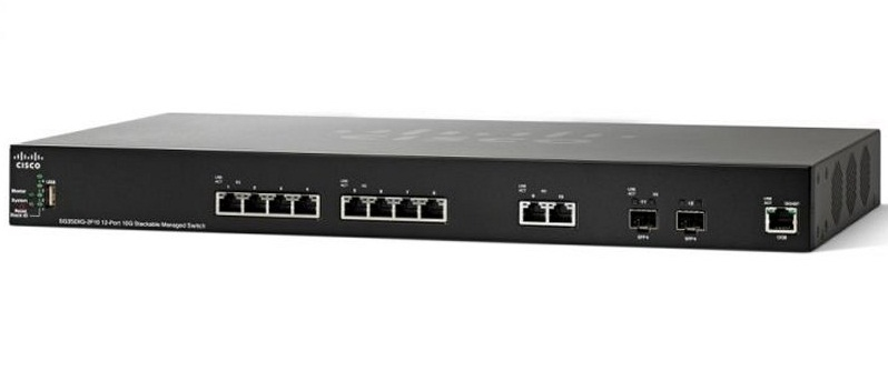 CISCO SG350XG 2F10 12Port 10GBaseT Stackable Managed Switch