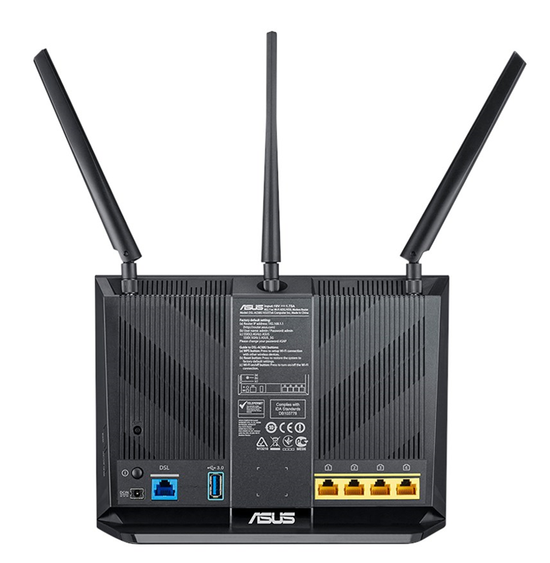 ASUS DSL-AC68U Dual Band Wireless AC1900 Gigabit ADSL/VDSL Modem Router