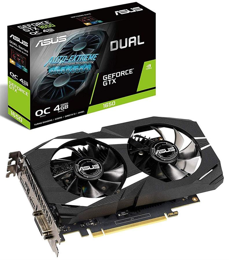 ASUS DUAL-GTX1650-O4G Graphics Card