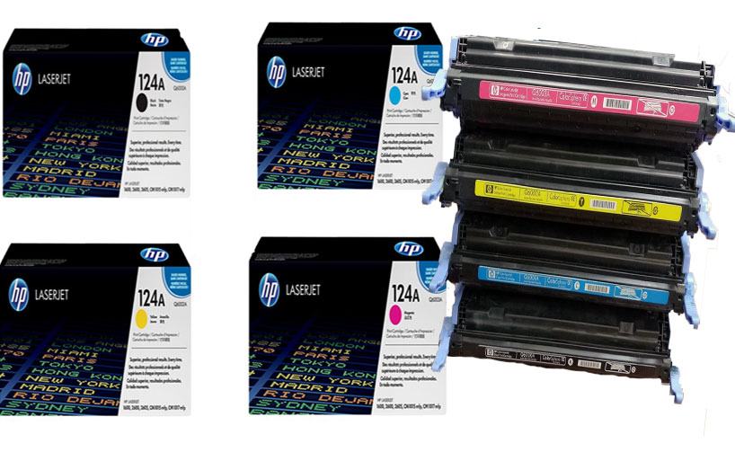 HP Q6001A 124A Blue LaserJet Toner Cartridge