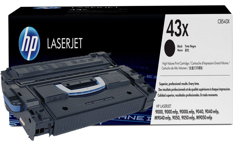 HP 43X Black LaserJet Toner Cartridge
