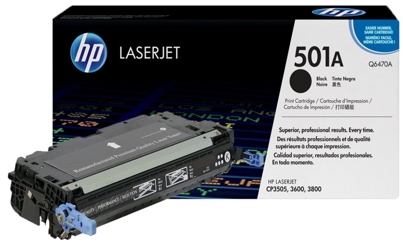 HP C6470A 501A Black LaserJet Toner Cartridge